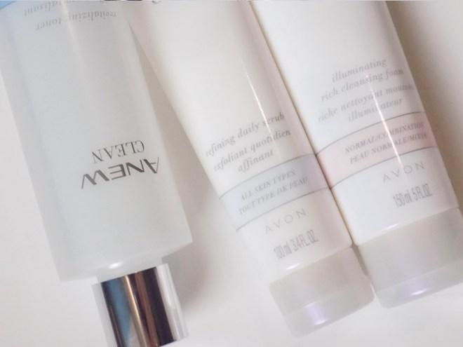 Avon Anew Clean Refining Scrub and Illuminating cleansing foam