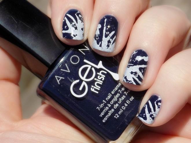 Avon Gel Finish Inked Up Nail Polish Nailart in Sunlight