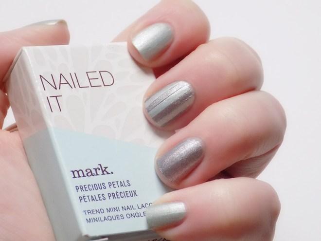 Avon Mark Nailed It Precious Petals Steel Magnolias and Green Thumb Swatches Nail Art 2