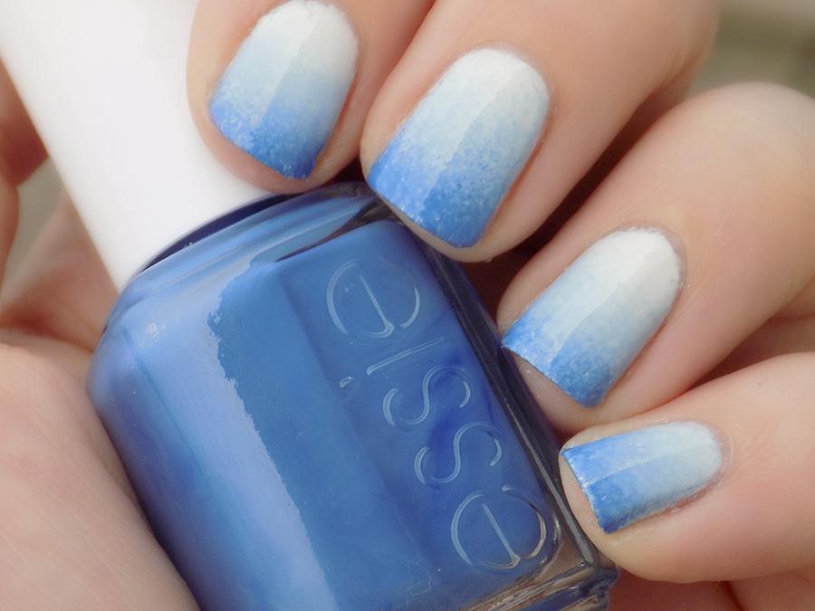 blue essie gradient nails winkday
