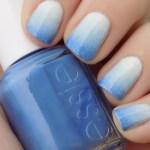 Blue Essie Gradient Nails For WinkDay