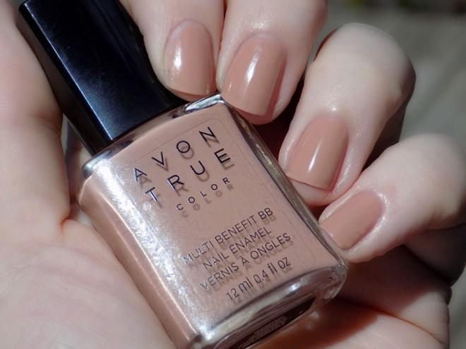 Avon True Color BB Nail Enamel Restoring Beige Swatch Sunlight