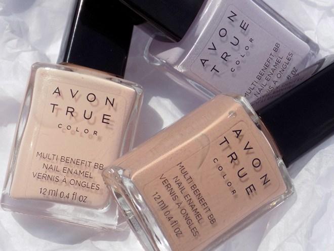 Avon True Color BB Nail Enamel Restoring Beige Trio