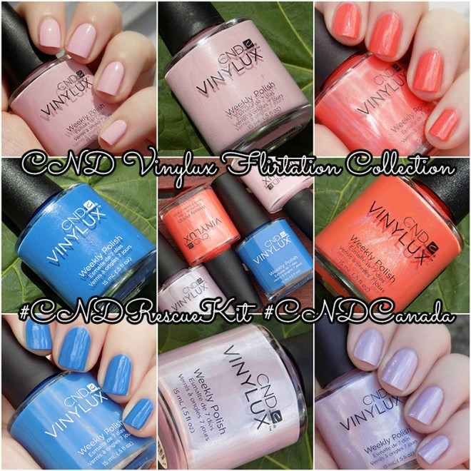 CND Vinylux Flirtation Collection Collage