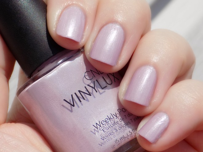 CND Vinylux Lavender Lace Nail Polish Swatch and Review