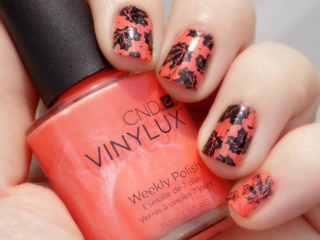 Canada Day Nails CND Vinylux Desert Poppy