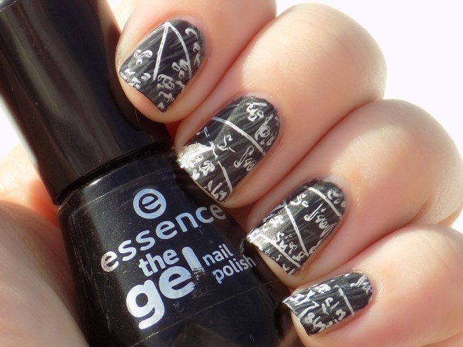 Back to School Essence  Chalkboard Scientific Equation Nailart