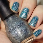 Sinful Colors Queen of Beauty over Quo Turquoise Moonlight Swatch Sunlight