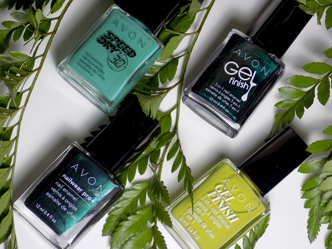 Avon Fall Trends - Green Nail Polishes