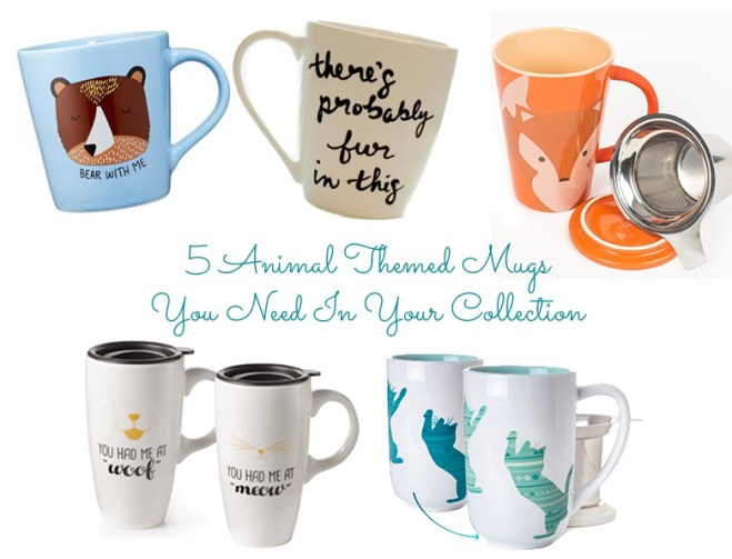 Five Animal Themed Mugs You Need In Your Collection