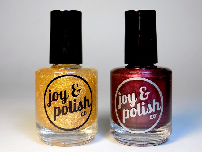 Joy and Polish Bottles - Spiced Plum and Goldschlacquer
