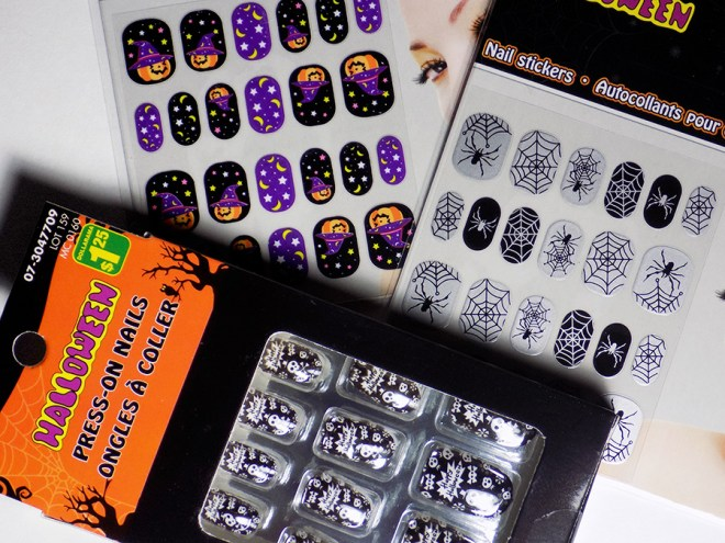 Dollarama Halloween Full Nail Options - Tea & Nail Polish