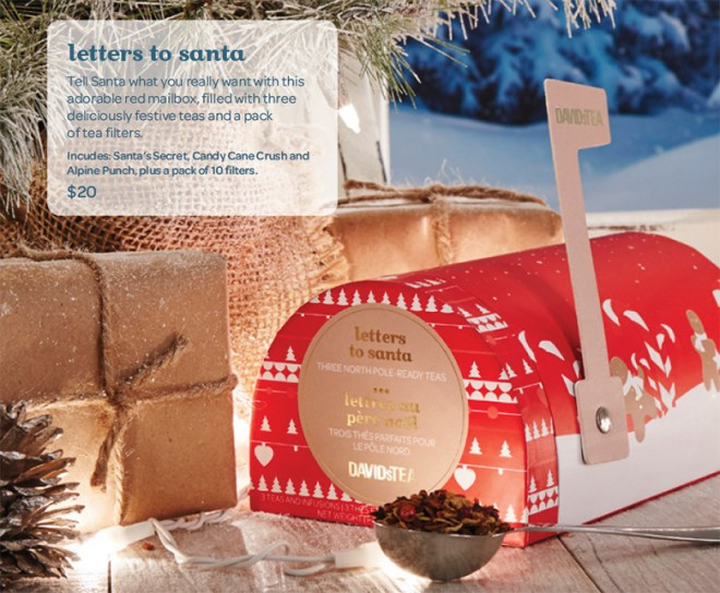 DavidsTea Winter Holiday Letters to Santa