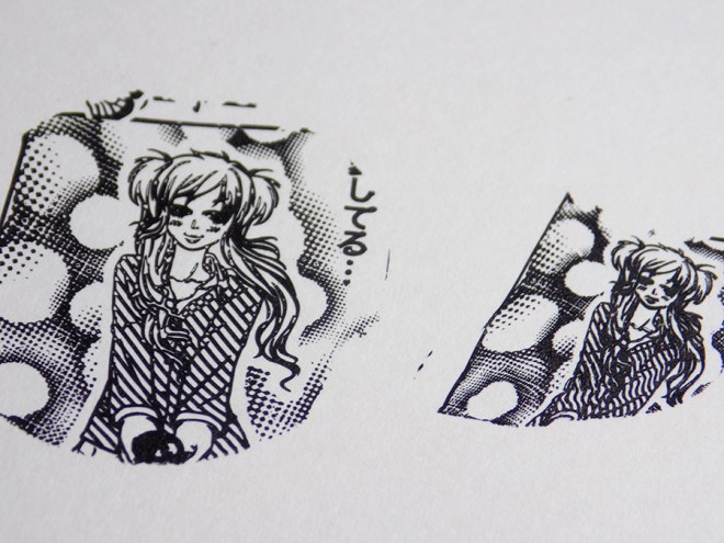How To Shrink Nail Stamping Images - MoYou Comics 05 Stamping Plate - Girl Swatches