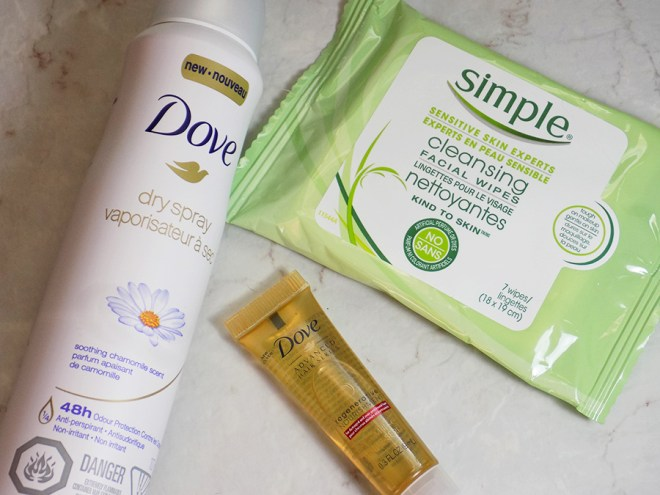 Topbox Unilever Trends Box - Dove Deodorant - Simple Cleansing Wipes - Dove Hair Regenerative