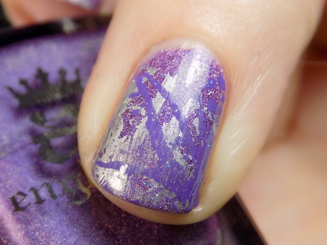 A England Angel Grace CBBNov Purple Nails Prompt Close Up