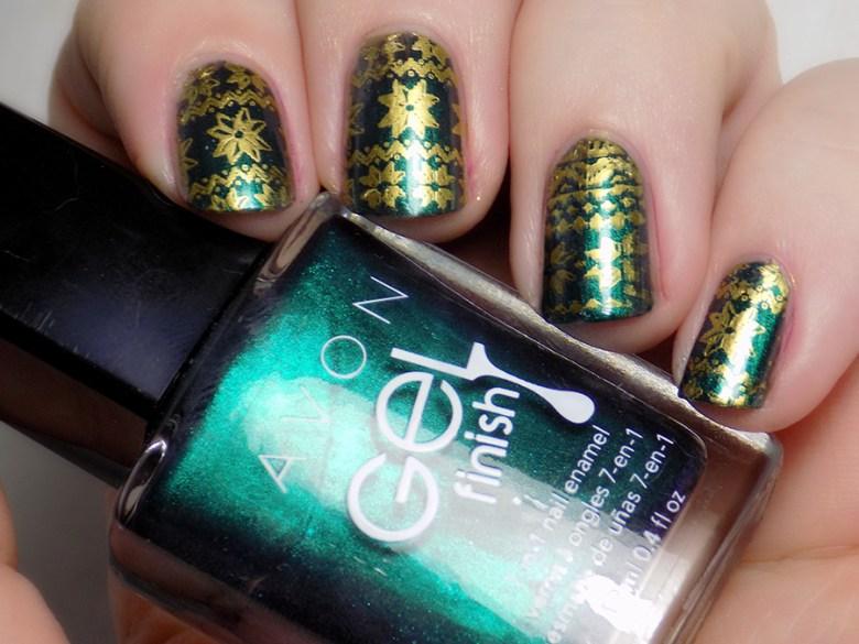 Avon Gel Finish Envy - MdU Gold - Ugly Sweater Nails