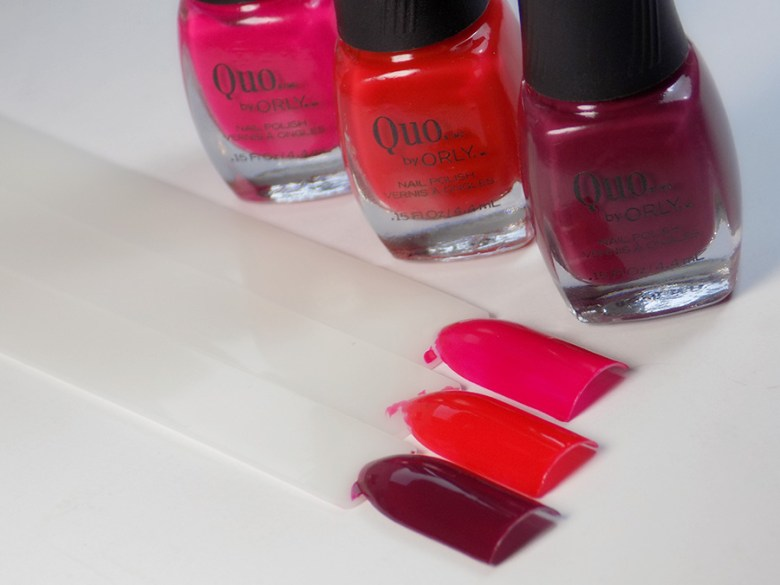 Quo by Orly Perfectly Painted Nail Polish Collection - Reds Swatches and Bottles