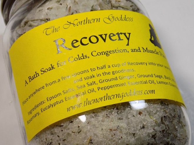 The Northern Goddess - Recovery Bath Salts Review