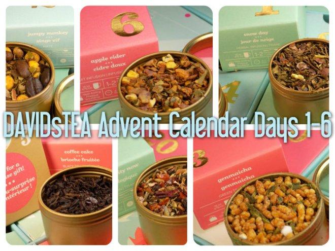 DavidsTea 2016 Advent Calendar Days 1-6