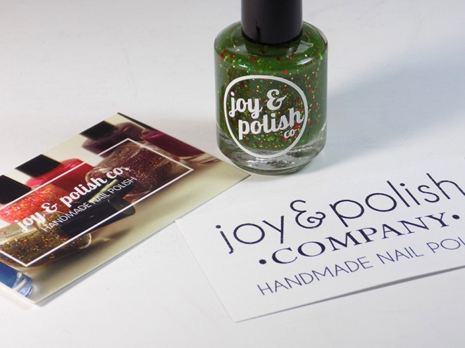 Joy and Polish Co Merry Grinchy Christmas Bottle with Cards