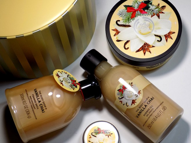 The Body Shop Vanilla Chai Gift Tin Set Holiday 2016 Review