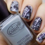 Tea Themed Nails – Color Club Silver Lake & Messy Mansion MM62