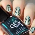 Leaf Vein Nails with Avon Envy & Born Pretty Store BP-L015