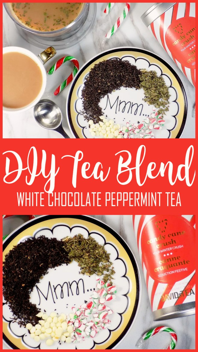 DIY Tea Blend - White Chocolate Peppermint Tea Alternative - Candy Cane Crush Style Tea