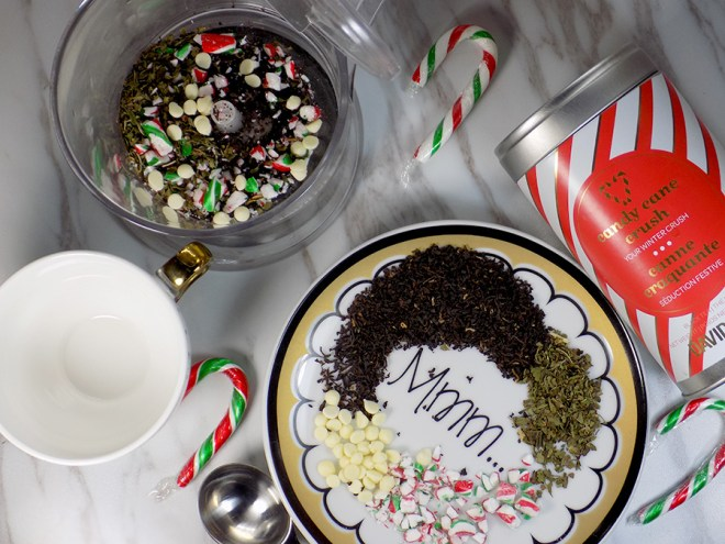 Make Your Own White Chocolate Peppermint Tea - Candy Cane Crush Tea - What You Need