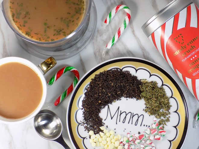 Make Your Own White Chocolate Peppermint Tea - Candy Cane Crush Tea
