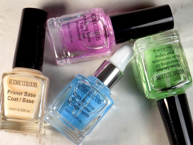 Mariposa Kosmic Colours Nail Therapy Set including Base coat, Top Coat, Quick Dry Drops and Nourishing Oil - Dollarama Buy