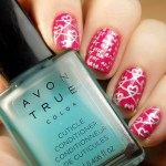 Stamped Valentine's Day Nails with OPI That's Berry Daring