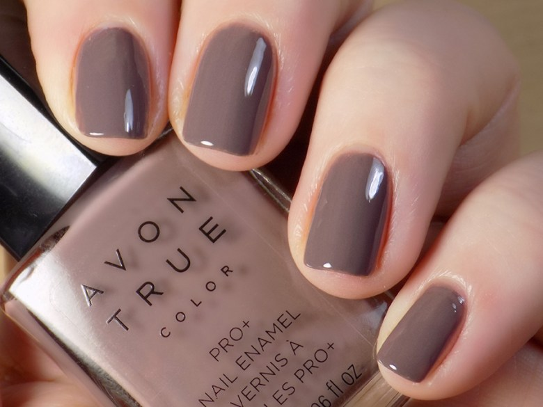 Avon True Color Spring 2017 Nail Polish in Smoky Plum Swatch Artificial Warm Light