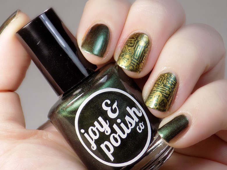 Joy and Polish Oh Kale Yeah - Stamped Swatch