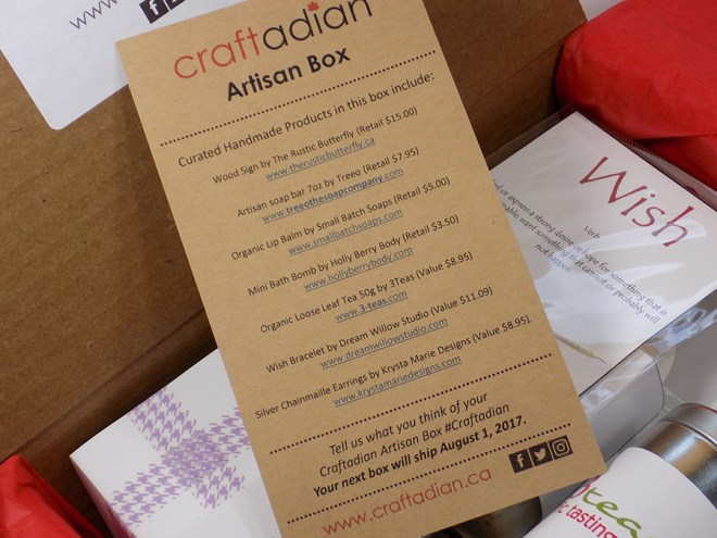 Craftadian Artisan Box May 2017 - Whats In The Box