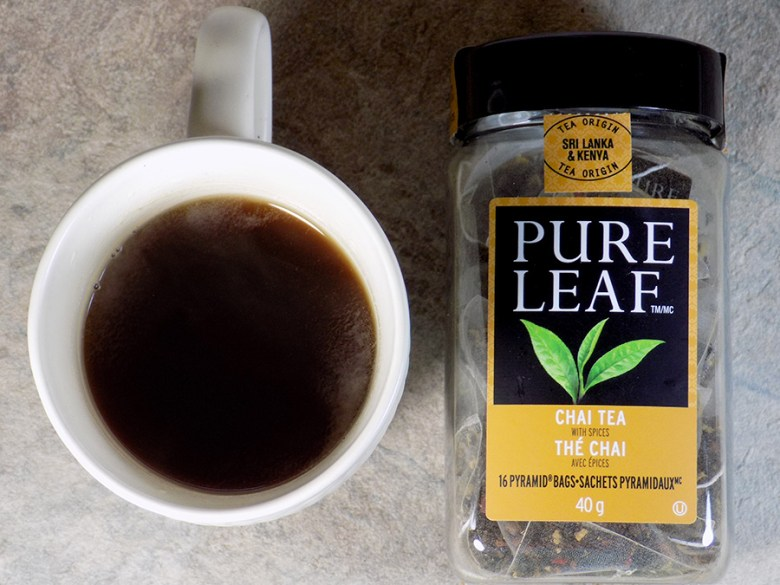 Pure Leaf Chai Tea with Spices Tea Review - Brewed
