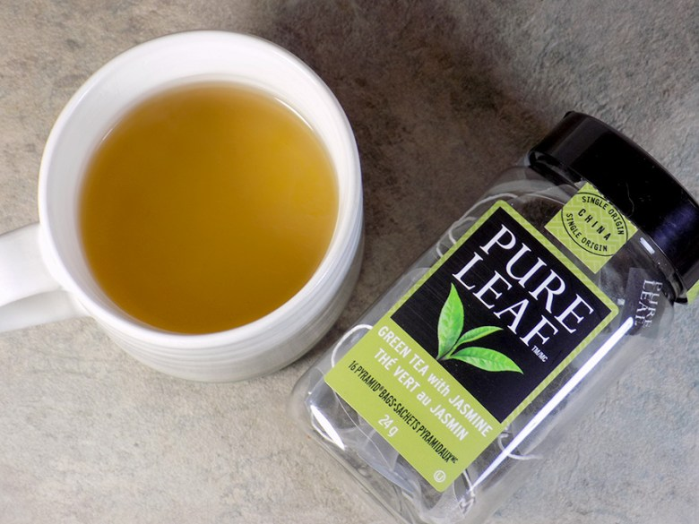 Pure Leaf Green Tea with Jasmine Tea Review - Brewed