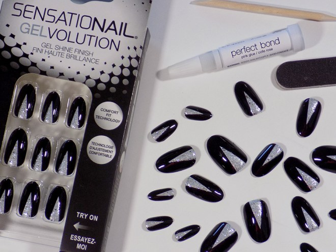 Sensationail Gelvolution Review - Stiletto Black and Silver