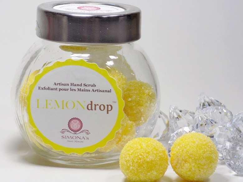 Simonas Sweet Skincare Review - Lemon Drops Hand Scrub