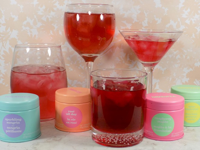 DavidsTea Cocktail Collection Teas - Rose All Day, Sparkling Sangria, Raspberry Mojito and Sour Appletini 2