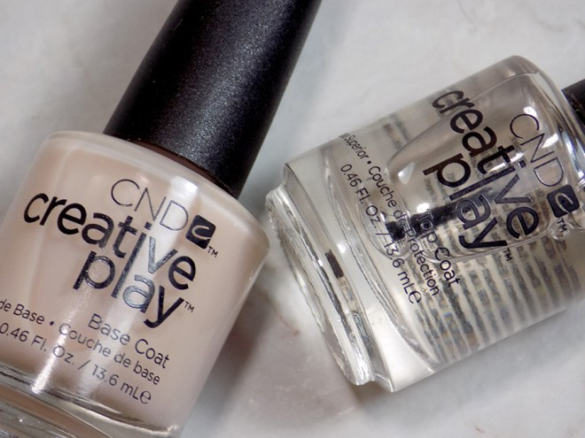 CND Creative Play Sunset Bash Review - CND Creative Play Base Coat and Top Coat