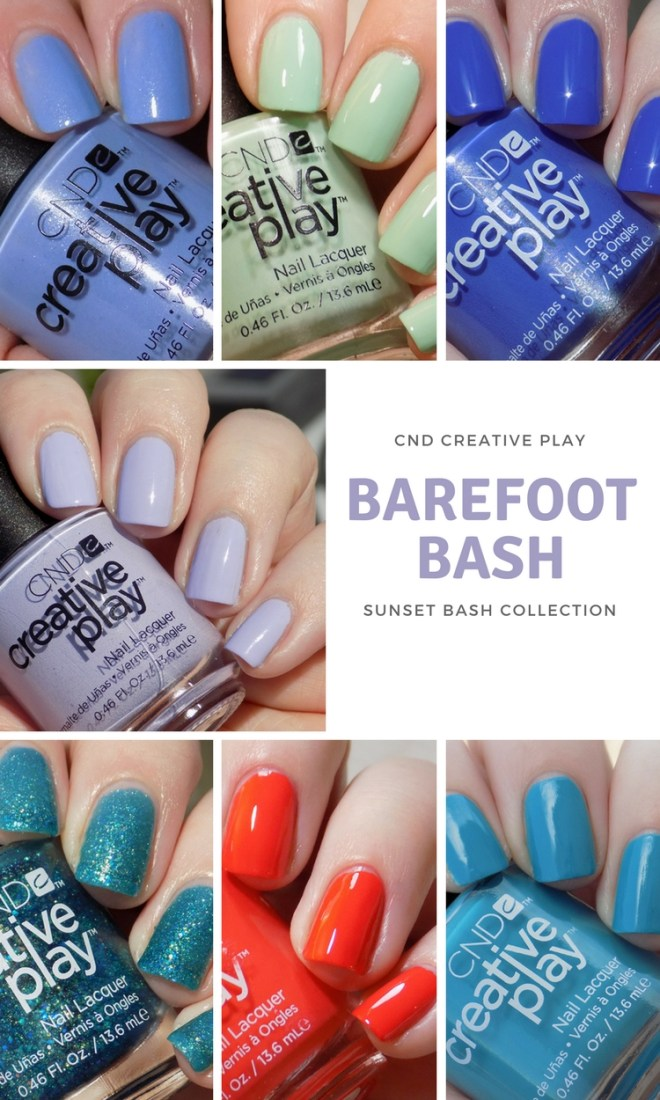CND Creative Play Swatches - Barefoot Bash Swatches