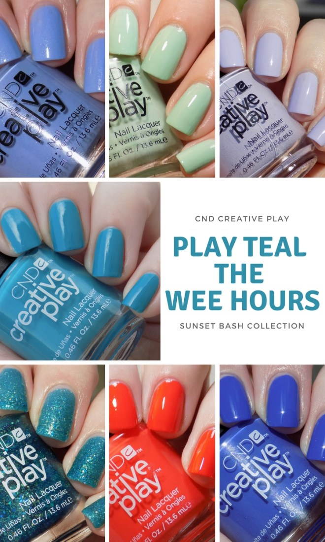 CND Creative Play Swatches - Play Teal The Wee Hours
