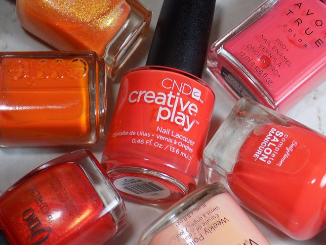 CND Creative Play Tangerine Rush from Sunset Bash Collection - Dupe Comparisons