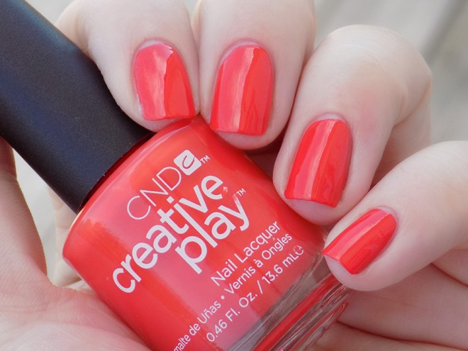 CND Creative Play Tangerine Rush from Sunset Bash Collection - Swatch Shade