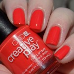 CND Creative Play Tangerine Rush Swatches & Review