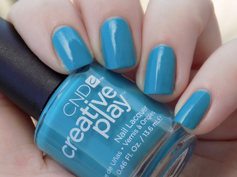 CND Creative Play Teal The Wee Hours from Sunset Bash Collection - Swatch Shade