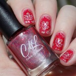 Colors by LLarowe Oh Canada - Stamped with Hit The Bottle Holo There Beautiful - Canada Day Nails - IECl