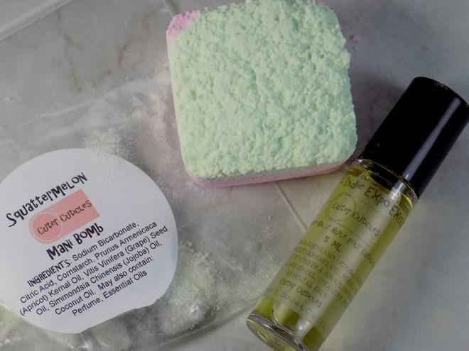 Cuter Cuticles - Squattermelon Mani Bomb - Union Cuticle Oil - Indie Expo Canada Purchases